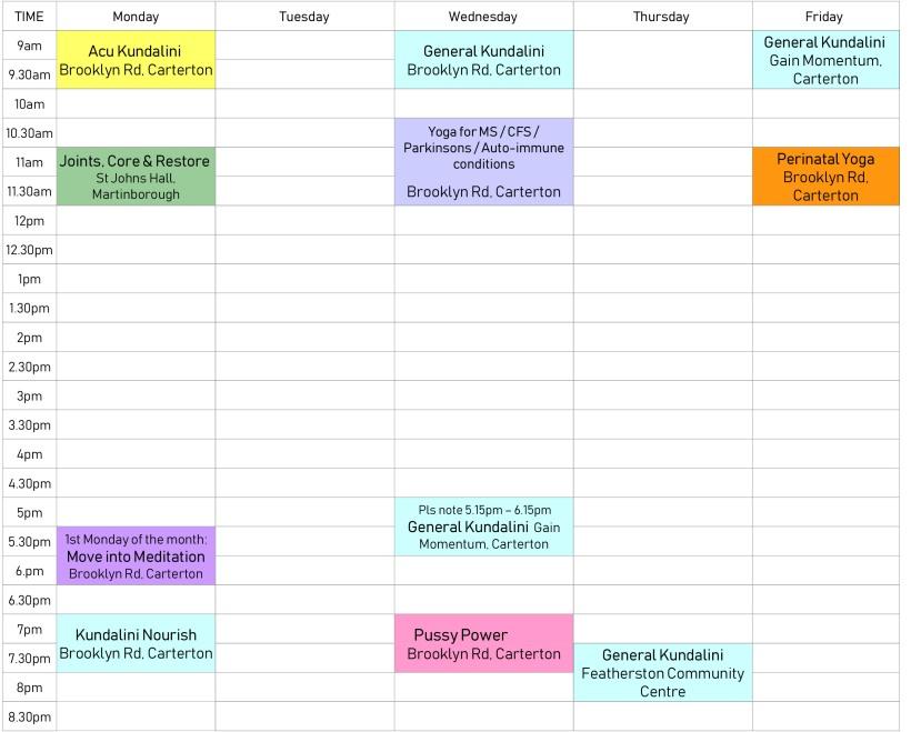 timetable Odette 19.08.18