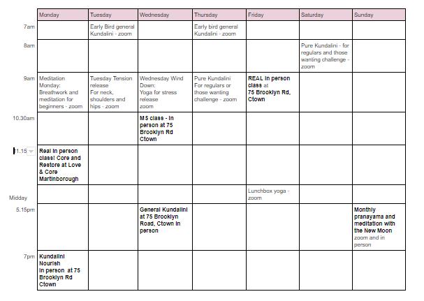 sept timetable 2020
